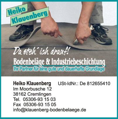 Impressum Klauenberg-Bodenbelaege